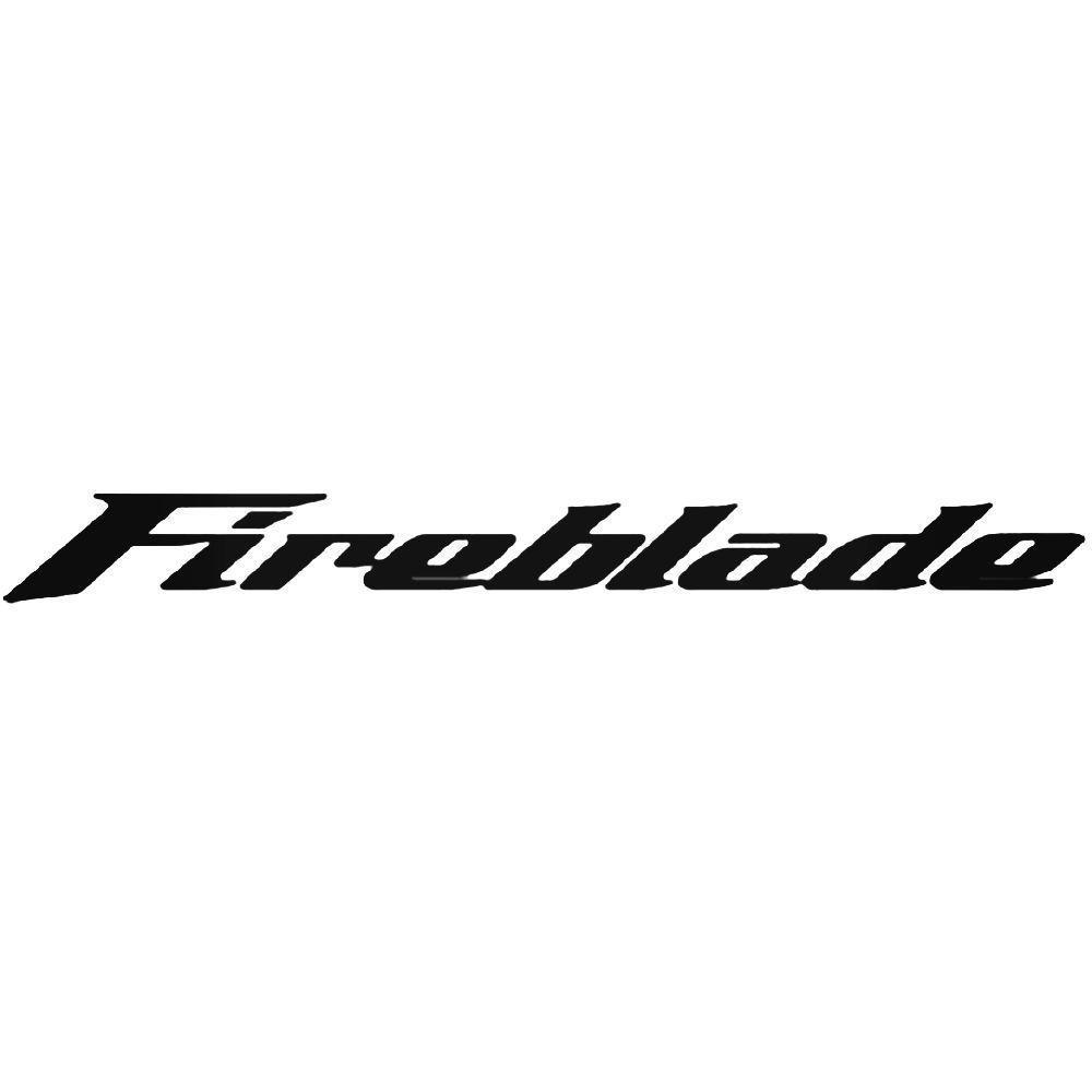2 x Motorbike Decal Honda Fireblade Tank Fairings Panniers Helmet Vinyl Sticker