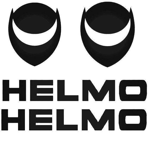 4 x Helmo Motorbike Decal Belly Pan Tank Fairings Panniers Helmet Vinyl Sticker