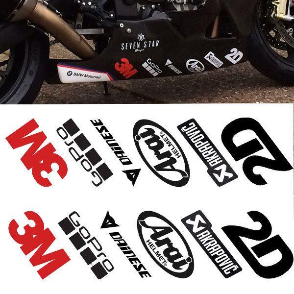 BMW S1000RR Belly Pan Set Motorcycle Fairings Panniers Helmet Stickers 22 Colour