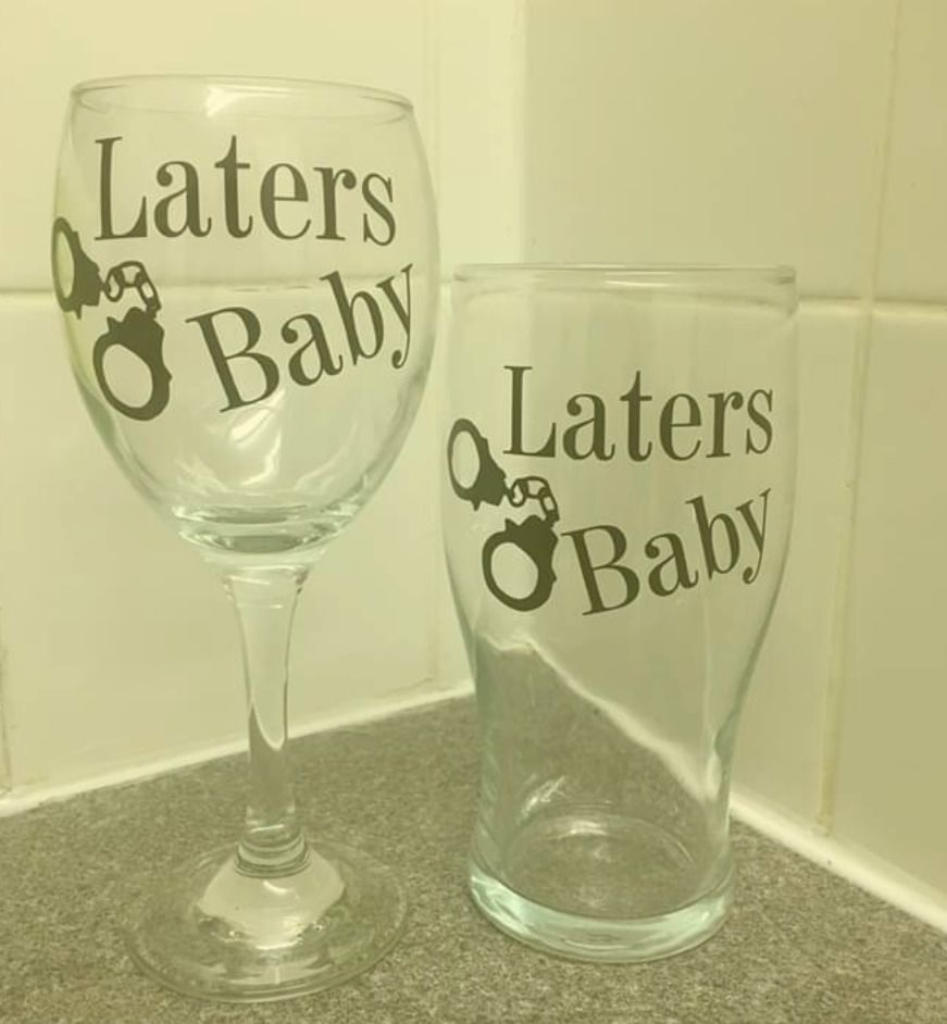 Laters Baby 50 Shades of Grey Glass Stickers Phone Laptop Quote 22 Colours