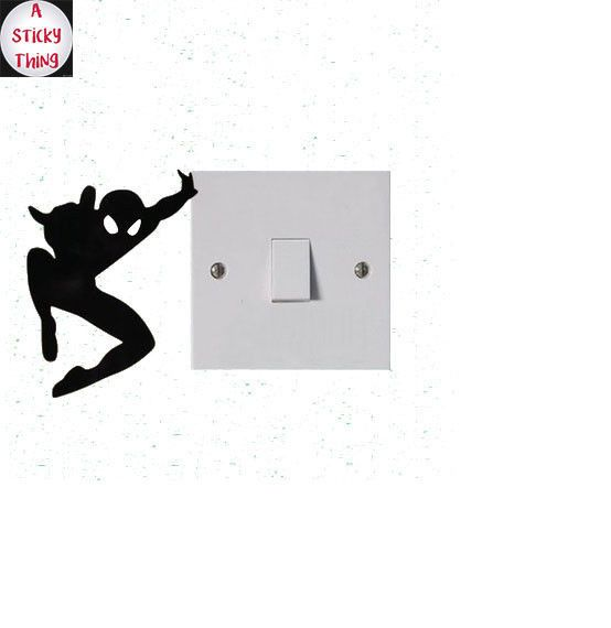 Light Switch Sticker Decal Vinyl Art Wall Sticker Lightswitch Spiderman