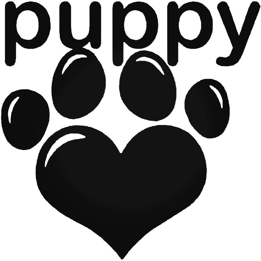Puppy Love Car Sticker Hippy Funny Window Vinyl Decal Motorbike 22 Colours