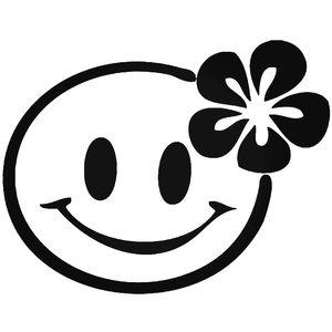 Smiley Emoji Flower Car Stickers Funny Vinyl Decals Motorbike Fairings Panniers