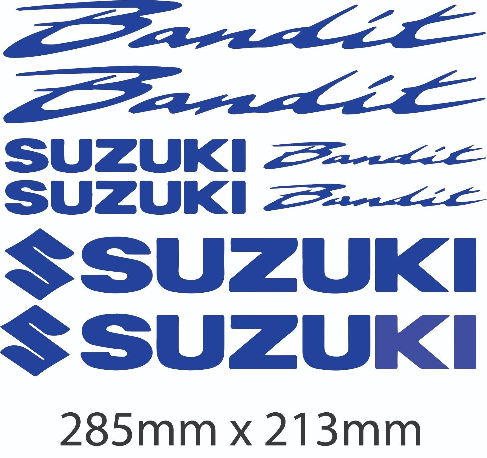 Suzuki Bandit Motorbike Decals Belly Pan Fairings Helmet Motorcycle Sticker Tank