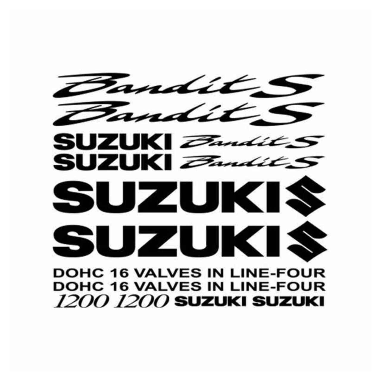Suzuki Bandit S Motorbike Decals Belly Pan Fairings Helmet Motorcycle Stickers