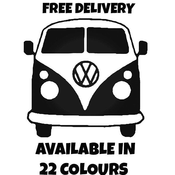 VW CAMPER Vinyl Car Sticker VW Van  Hippy Decal MEDIUM 150mm x 144mm