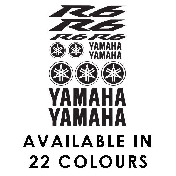 Yamaha R6 Motorbike Sponsor Decal Set Belly Pan Fairings Panniers Tank Sticker